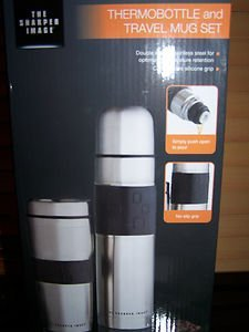 sharper-image-stainless-steel-thermobottle-travel-mug-set-by-sharper-image