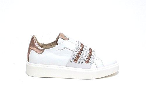 Janet sport donna, articolo 39708, sneaker pelle, bianco nr 38 E7102