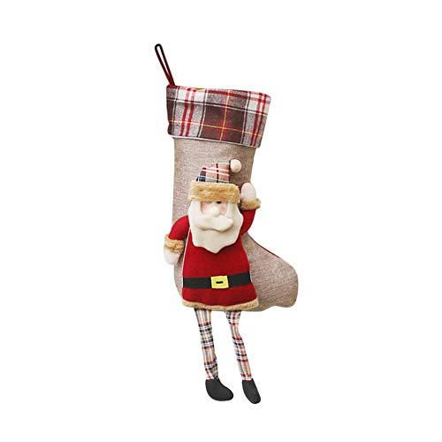 iBàste Weihnachtsstrümpfe Socken Hängen Weihnachten Dekoration Weihnachtsstrumpf-Geschenktasche Weihnachtsanhänger-Verzierung Weihnachtself Süßigkeits Tasche Weihnachtsschmuck Personalisierte