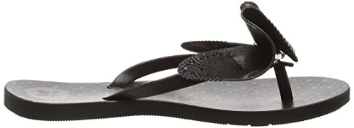 ZaxyFresh Butterfly - Sandali donna Nero (Black Glitter)