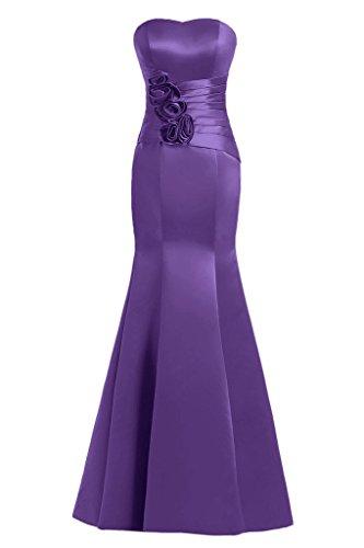 Sunvary Mermaid Sweetheart fiori in raso per abiti da sera Gowns sera Viola