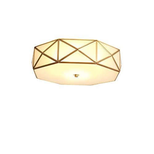 Deckenleuchte Retro Vintage Design Rund Kupfer Deckenlampe Glas Landhaus Antik Eingebettet...