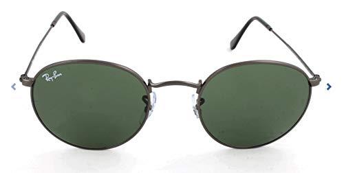 Ray-Ban Herren Sonnenbrille Rb 3447, Matte Gunmetal/Crystalgreen, 53