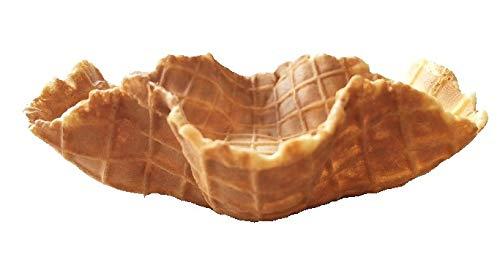 Süße Waffelschale Supercup mittel - Inhalt: 60 Stück - 30mm Höhe - 125mm Durchmesser - Knuspriger Waffelbecher - Schale - für Eisbecher, Obstsalat oder Dessert & Snack - Stück 0,45 € - Mülheimer Manufaktur Eiswaffeln