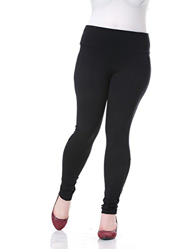 Chicwe Damen Hosen Große Größen Tiefes Hüftband Jeggings Gamaschen Style dünne 54, Schwarz (Hose Beschnitten Petite)