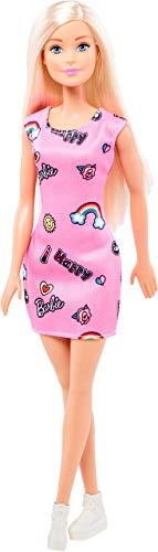 Barbie FJF13 Chic Puppe im pinken Kleid mit Prints