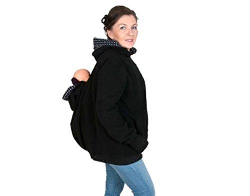 HarrowandSmith - Sweat à capuche spécial grossesse - Femme Noir