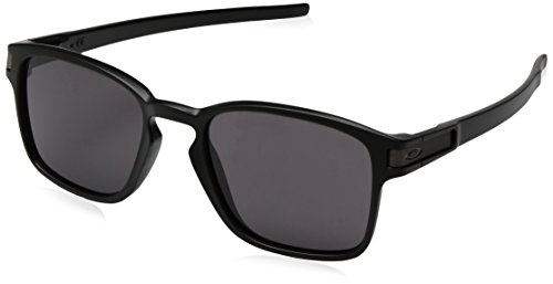 Oakley Unisex Sonnenbrille LATCH SQUARED Schwarz (Matte Black/Warm Grey), 52