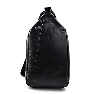 Gürteltasche leder schultertasche menner damen hüfttasche umhängetasche schultertasche ledertasche seitentasche beutel schwarz