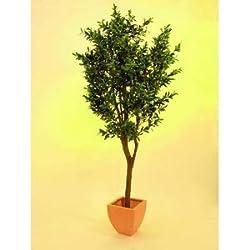 Olivenbaum künstlich mit Oliven, dicker Stamm, Höhe ca. 250cm - Oliven Baum Kunstbaum Dekobaum