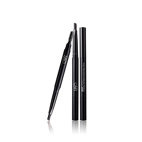 Bulary Longlasting Waterproof Non-smudge Replaceable Eyebrow Pencil With Eyebrow Brush (Noir)