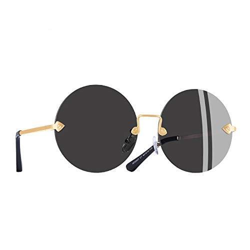 GFF Runde rahmenlose Sonnenbrille Frauen Retro Vintage Spiegel Sonnenbrille Brillen gläser uv400 a2407