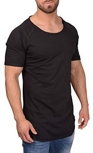 QULAXITY XVI Herren T-Shirt Oversize Locker (XL, Schwarz) -
