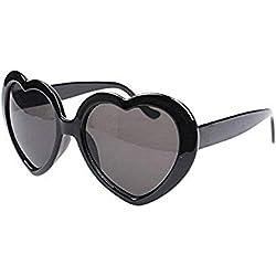Inception Pro Infinite Gafas de sol (negras) - Corazón - Mujer - Estilo Lolita - Uv400 polarizado