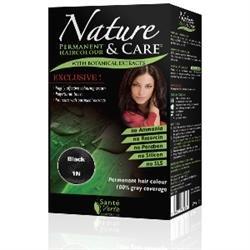 Sante Verte - Santé Verte Coloration Nature et Soin - Couleur : 1N Noir Intense
