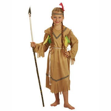 SALE Kinder-Kostüm Indian Girl, 4-6 (Girl Indian Kinder Kostüme)