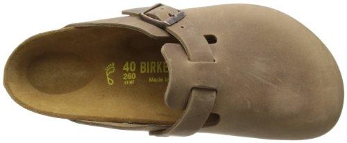Birkenstock Classic Boston Leder Unisex-Erwachsene Clogs Braun (Tabacco Brown)