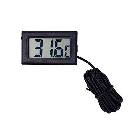 XUANLAN Digital-Thermometer-Aquarium-Kühlschrank-Gefrierschrank-Wassertemperaturanzeige mit wasserdichter Sonde (Größe : 2 Meters) -