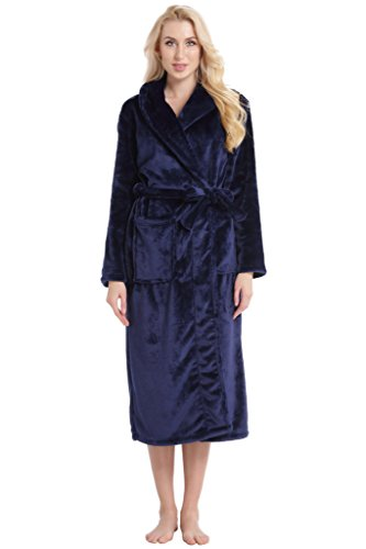 - 31mOYDCyBUL - Aibrou Dressing Gown, Ladies Coral Fleece Bathrobe Warm, Soft & Cosy Towelling Robe Housecoat With Full Length