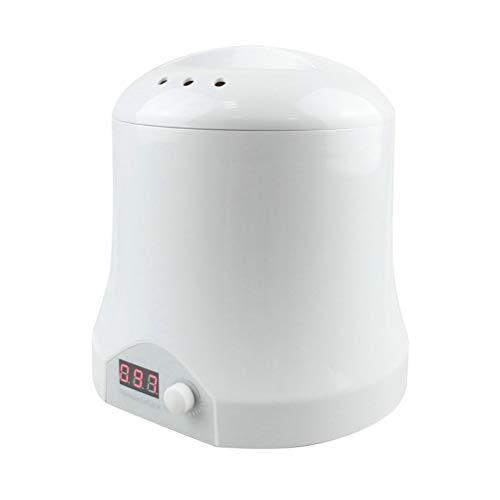 Mini chauffe cire avec écran LED, pot en aluminium amovible de 500ml, température réglable, pour la main/visage/plein corps rapide dépilatoire
