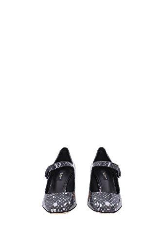 Mary janes Dolce & Gabbana en cuir verni Gris jersey - Code modèle: CD0116 A2797 8P860 Gris jersey