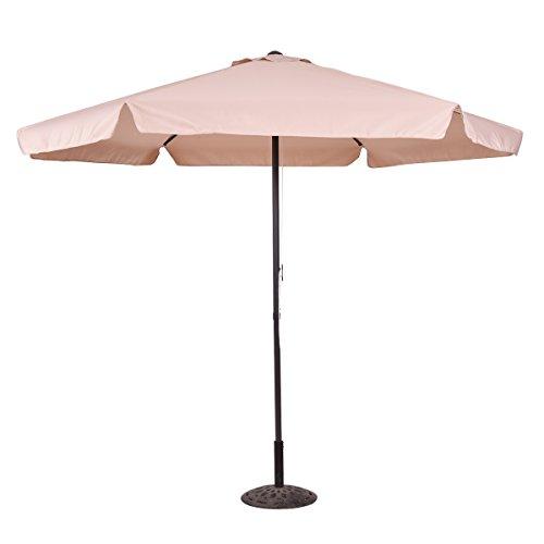 Paresoleil parapluie marché Parasol parapluie 300CM crème solaire (Beige)