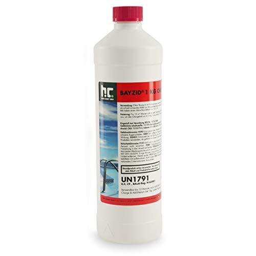 Höfer Chemie 6 x 1 kg Chlor flüssig - mit 13 bis 15{8cde85948f8da3585c9aab4c3b9e9c467b3a8718955eab0af9d9379b8a2c4d67} Aktivchlorgehalt - Wasserdesinfektion für Pools