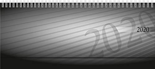 rido/idé 703610290 Tischkalender/Querterminbuch septant (2 Seiten = 1 Woche, 305 x 105 mm, PP-Einband, Kalendarium 2020, Wire-O-Bindung, verlängerte Rückwand) anthrazit