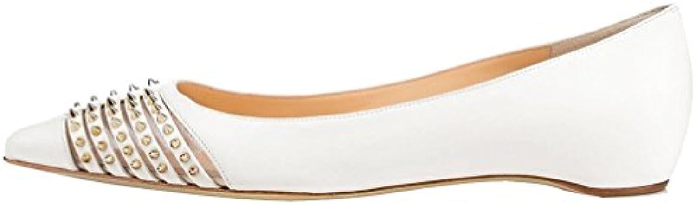 Calaier Mujer Cahorse Plataforma 1CM Sintético Ponerse Bailarinas Zapatos