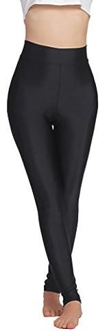 Speerise Womens Stretch Lycra Nylon Dance Yoga Running Leggings, M, Black