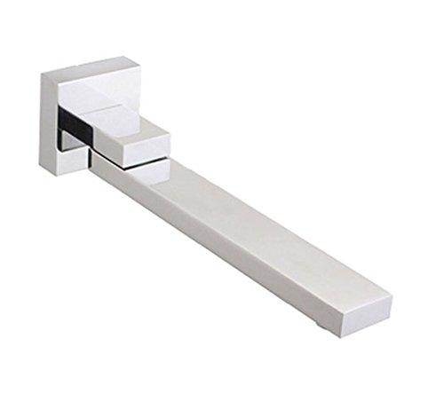 Rubinetteria da incasso per vasca da bagno con soffione a incasso a parete quadrata in rame