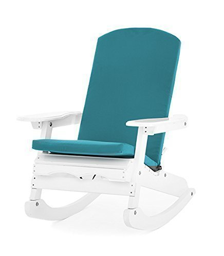 Turquoise Garden Cushion Pad for Adirondack Chairs with a Water Resistant Zipped Cover *Chair not Included*