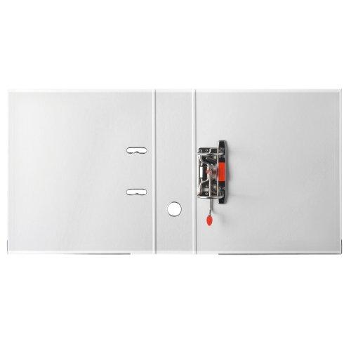Herlitz 9942681 Ordner maX.file protect A4 8cm weiß, PP-Kunststoffbezug/Papier hellgr.besch. 5er Packung - 4