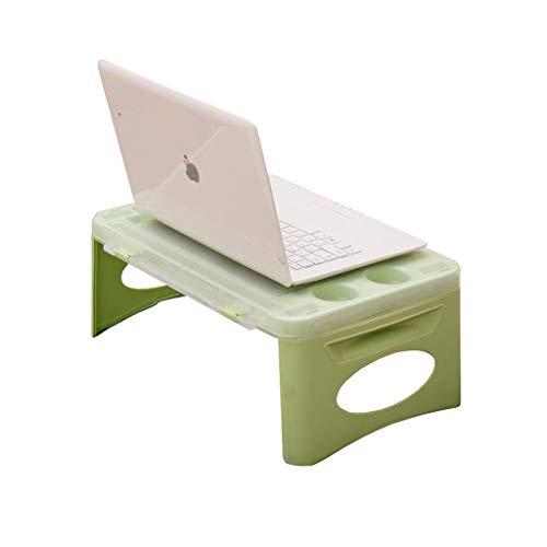 Qyzdzdz - Laptoptisch Laptop-Betttisch Schreibtisch Tragbares Kunststoff-Frühstücksfach Faules...