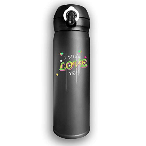 Sport-Trinkflasche, Reisebecher-Vakuumflasche, Stainless Water Bottle Thermal Insulated Cup With Bounce Cover Designed I Love You Until The Day After Forever,17 Oz -