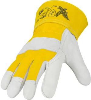 Rindnarbenleder - Schutzhandschuhe   ca. 1,3mm Lederstärke   gegen mechanische Risiken   EN 388   Größe: (Handschuhe Adler)