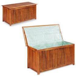 Vidaxl legno massello di acacia cassapanca da esterno xl contenitore panchina