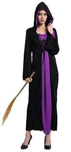 loween Kostüme Goethe Hexe Cosplay Allerheiligen Kleider Violett (Meerjungfrau-kostüme Für Halloween Selbstgemacht)