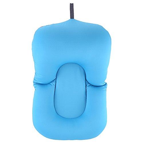 Fdit - materassino antiscivolo per bagnetto e doccia, cuscino galleggiante morbido, per neonati e bambini blue