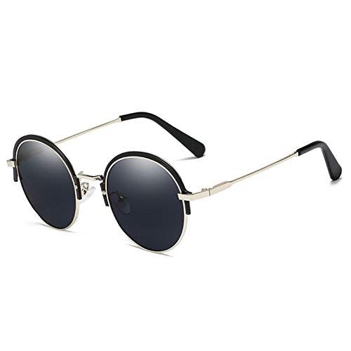 AAMOUSE Mode Halbrahmen Frauen Männer Sonnenbrille Vintage Runde Rahmen Hälfte der Brille Sonnenbrille UV400 Sonnenbrille