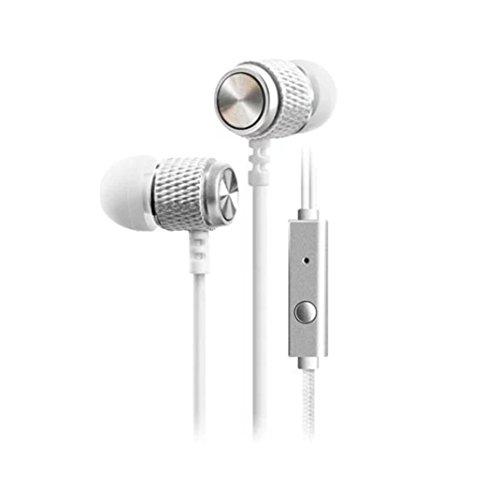 Pocciol Ear, 1Super Bass Stereo 3,5mm in-Ear-Kopfhörer Sport Headset mit Mikrofon, M, Silber