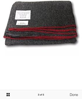 Mantas de lana militar, nuevo sellado, elección de color
