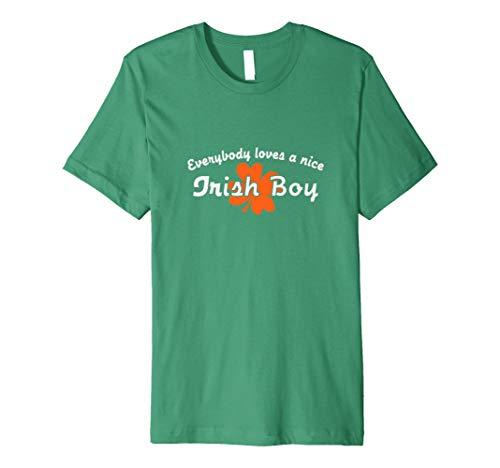 Everybody Loves A Nice Irish Boy | Ireland Humor T-shirt (Irish Love Boys-t-shirts)