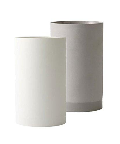 Menu – Cylindrical Vase L, weiß - 2