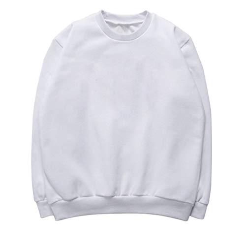 Haobing Damen Sweatshirt mit Kapuze Best Friend Druck Hoodies Langarmshirt Pullover Tops für Zwillinge und Schwestern (Weiß #Rundhals, CN XL) (Bonnie Und Clyde Kostüm Für Paare)