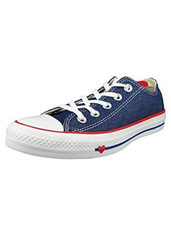 Converse Damen Chuck Taylor All Star Sneaker, Blau (Indigo/Enamel Red/White 000), 41 EU