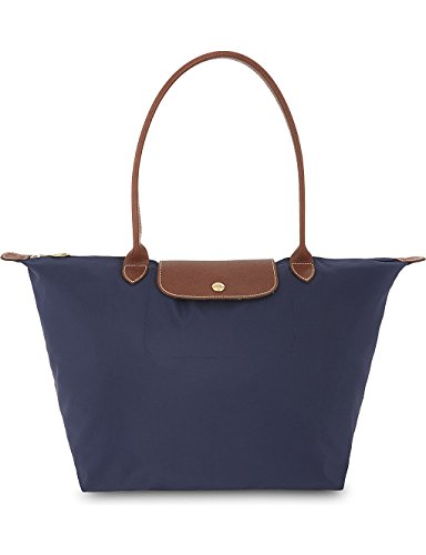 92632df7be49 Longchamp - Bolso de Tela para Mujer Azul Marino Large