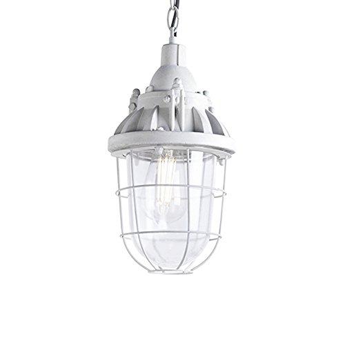 QAZQA Industrie/Industrial Pendelleuchte/Pendellampe/Hängelampe/Lampe/Leuchte Cabin beton/Innenbeleuchtung/Wohnzimmer/Schlafzimmer/Küche Stein/Rund LED geeignet E27 Max. 1 x 40 Wa