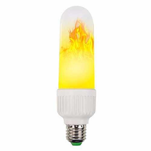 LED Flame Effect Light Bulbs [3 Modes],Snewill E27 LED Flackern Flame Light Birne, 2835 LED Beads Simulated Fire Decorative Atmosphere Flaming Light for Christmas Halloween Holiday Party
