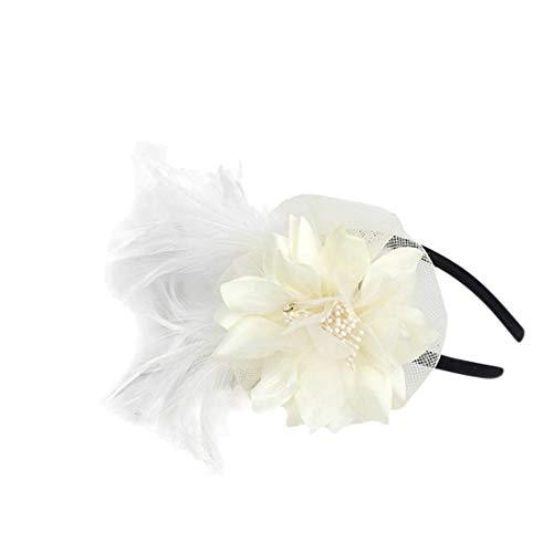 TOBEEY Frauen Hochzeit Kopfschmuck Blume Mesh Kentucky Derby Headwear Cocktail Party Kirche Hüte - Rennen-tag-tee